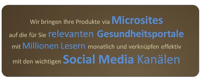 microsites social media kanal
