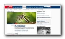 Gesundheitsbereich des Nachrichtenmagazin FOCUS.de