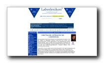 Gesundheitsportal und Medizindatenbank Laborlexikon.de