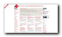 Portal mit News aus Gesundheitsblogs - medicalblogs.de