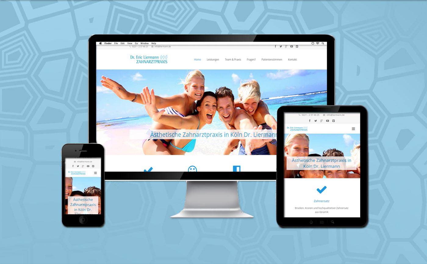 Referenz Webseite Zahnaesthetik-Koeln