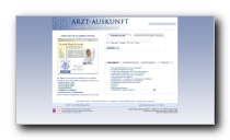 Arztsuche der Stiftung-Gesundheit - arzt-auskunft.de